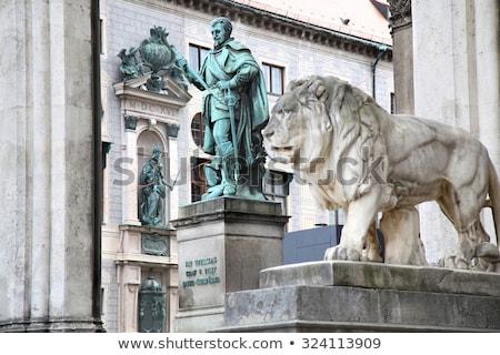 Statue of Graf V Tilly at the Odeonsplatz - Feldherrnhalle in Mu Stock photo © vladacanon