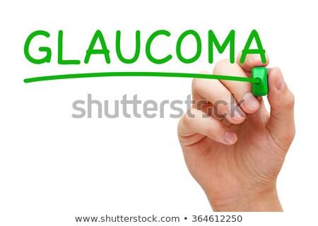 zöldhályog · diagnózis · orvosi · nyomtatott · kék · tabletták - stock fotó © ivelin
