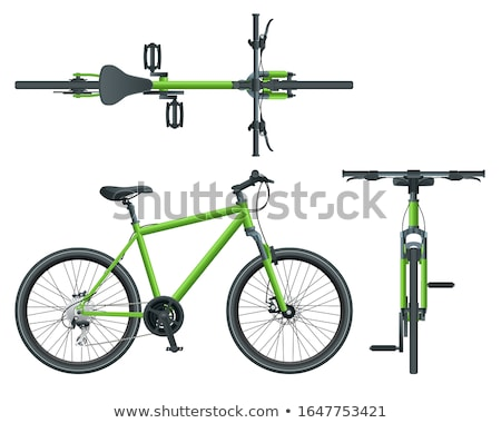 A top and side view of a bicycle Stock photo © bluering