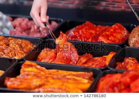 Marinato carne carbone di legna grill alimentare Foto d'archivio © Digifoodstock