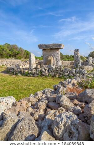 Talaiot de Trepuco megalithic table-shaped Taula monument Stock photo © tuulijumala