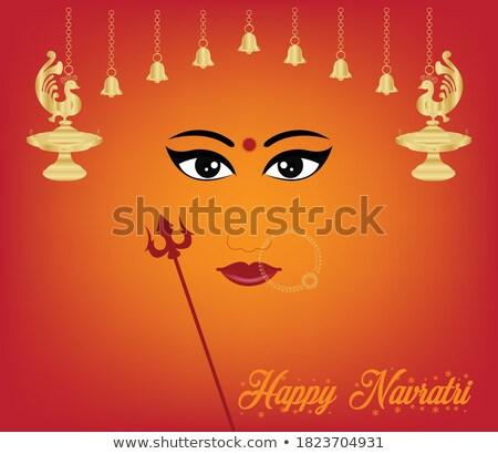 happy navratir celebration background Stock photo © rioillustrator