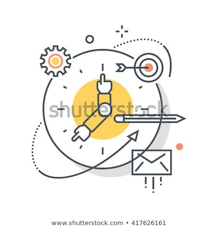 Illusztráció célzás időbeosztás ikonok könyv telefon Stock fotó © Photoroyalty