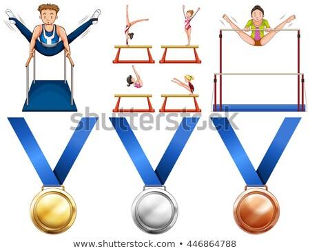 アイコン · 体操 · 平らでない · バー · 実例 · スポーツ - ストックフォト © bluering