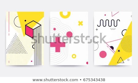 Colorful trend Neo Memphis geometric pattern Stock photo © softulka