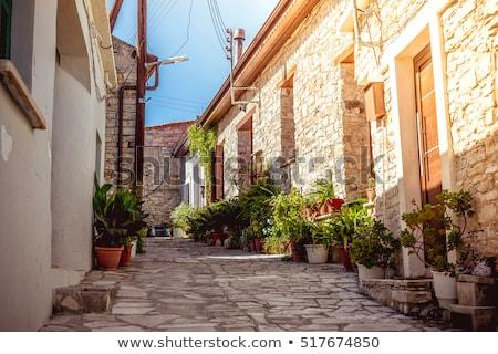 Keskeny kő utca falu kerület Ciprus Stock fotó © Kirill_M