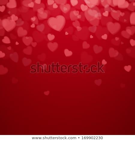 ベクトル · 中心 · デザイン · ピンク · 赤 · バレンタインデー - ストックフォト © saicle