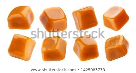 Karamell cukorka fehér étel senki Stock fotó © Digifoodstock