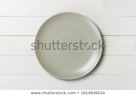 beige · cena · placa · plato · vacío · cerámica - foto stock © Digifoodstock