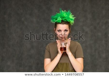 魅力のある女性 花輪 水 かなり 若い女性 伝統的な ストックフォト © Aikon