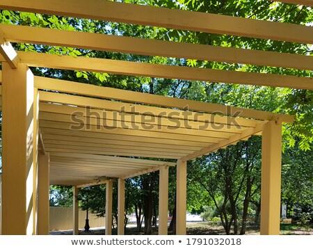 Architecture design for wooden pavilion Stock photo © bluering