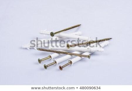 złoty · śruby · czarny · pracy · tle · przemysłu - zdjęcia stock © simazoran