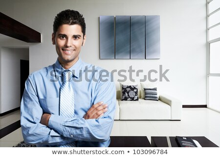 Portrait of a handsome man in a luxurious apartment Stock photo © majdansky