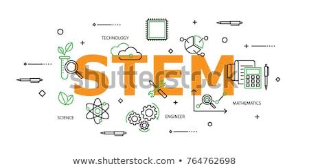 Poster design for stem education Stock photo © bluering