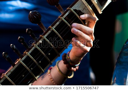 mid section of guitarist performing at concert stock photo © wavebreak_media