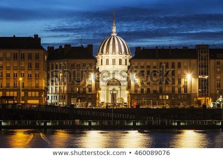 Ulic świcie la niebo miasta ulicy Zdjęcia stock © benkrut