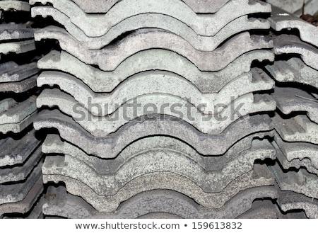 Stok fotoğraf: Eski · çatı · fayans · taş · duvar