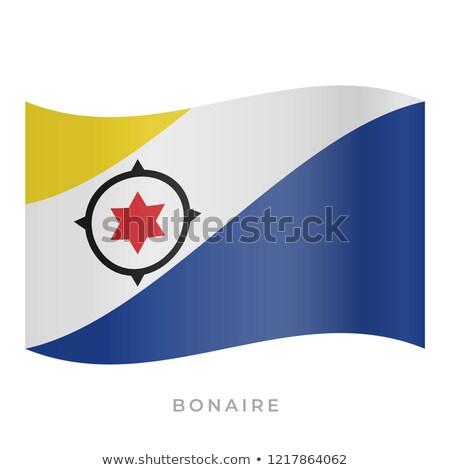 Bonaire waving flag Stock photo © Amplion