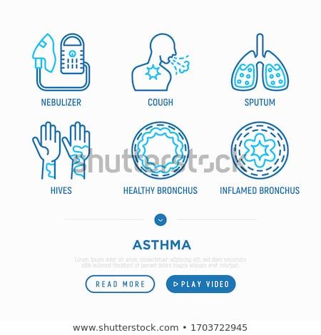 icon bronchial asthma stock photo © olena