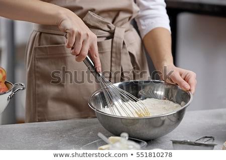 Kadın un çanak gıda el Stok fotoğraf © wavebreak_media