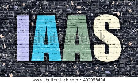 IAAS Concept. Multicolor on Dark Brickwall. Stock photo © tashatuvango