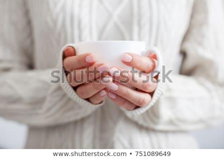 девушки Кубок чай красоту зима Сток-фото © IS2