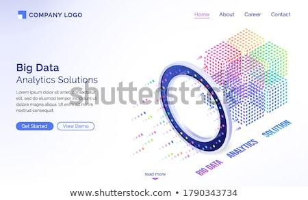 Nagy adat szoftver analitika megoldások 3D Stock fotó © tashatuvango