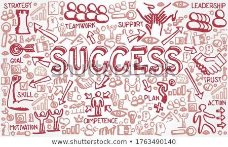 Business Goals Analysis - Doodle Red Text. Business Concept. Stock photo © tashatuvango