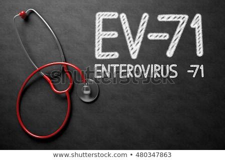 Ev-71. Medical Concept. Stock photo © tashatuvango