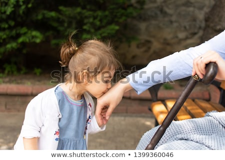 Girl kissing her grandmother Stock photo © IS2