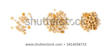 zout · knoflook · kom · voedsel · hout · bier - stockfoto © devon
