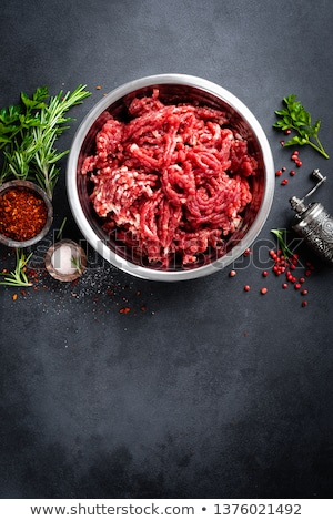 Almôndegas escuro topo ver comida Foto stock © yelenayemchuk
