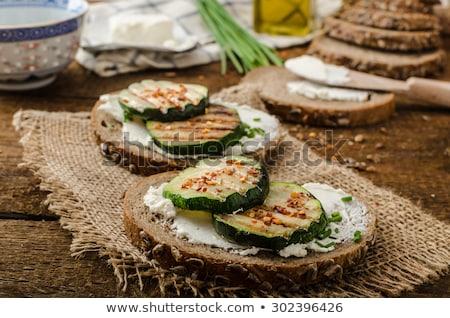 sanduíche · abobrinha · ervas · pão · café · da · manhã · almoço - foto stock © m-studio