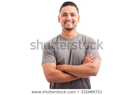Atleet permanente witte portret sport mannelijke Stockfoto © wavebreak_media