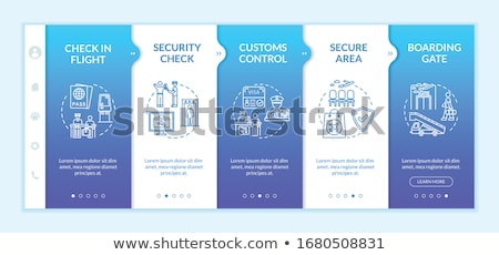 International passenger airport guide template Stock photo © studioworkstock