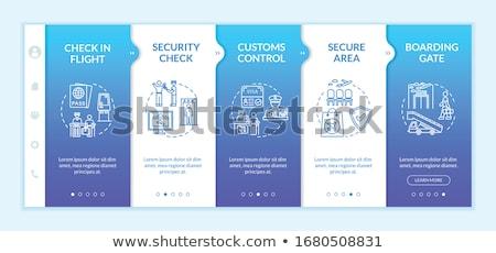 international passenger airport guide template stock photo © studioworkstock