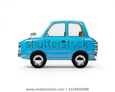 blue retro car on white Stock photo © ssuaphoto