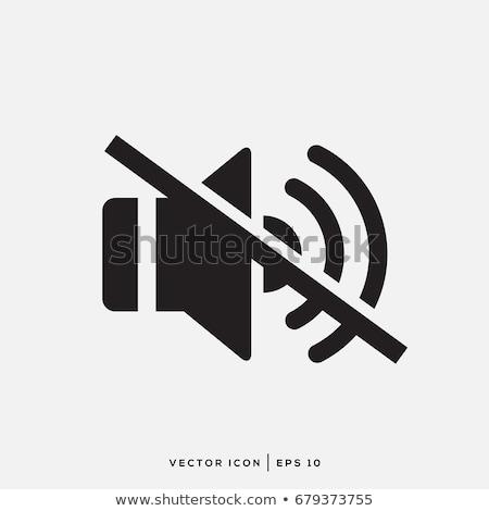 ミュート ベクトル アイコン デザイン 色 黒白 ストックフォト © rizwanali3d