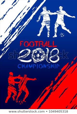 Torneo de fútbol azul ola fútbol fondo deportes Foto stock © SArts