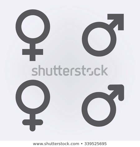 man and woman with male and female symbols Stock photo © adrenalina