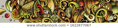 pomodori · graffiti · verde · capriccioso · luce · texture - foto d'archivio © Walmor_