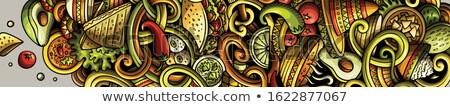 graffiti · primer · plano · resumen · fondo · arte · verde - foto stock © walmor_