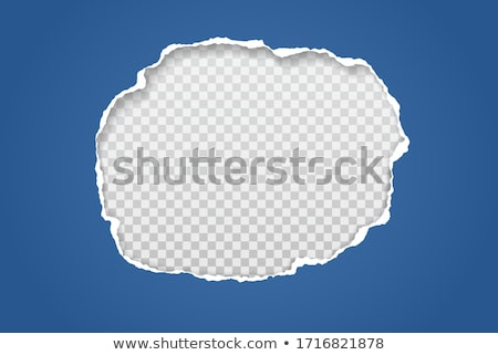 white torn with blue paper stock photo © barbaliss