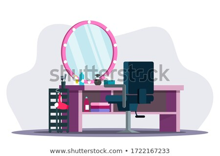 beauty on a hairdresser chair Stock photo © konradbak