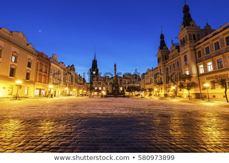 Pernstynske Square and Green Tower in Pardubice Stock photo © benkrut