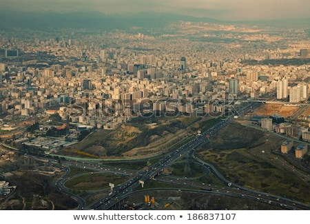 Iran highway, aerial view. Tehran Stock photo © joyr