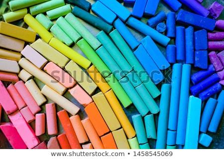 Gökkuşağı bayrak okul çekmek tahta gurur Stok fotoğraf © romvo