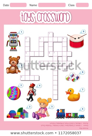 toys crossword sheet template stock photo © bluering