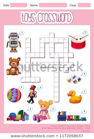 Spielzeug Kreuzworträtsel Blatt Vorlage Illustration Papier Stock foto © bluering
