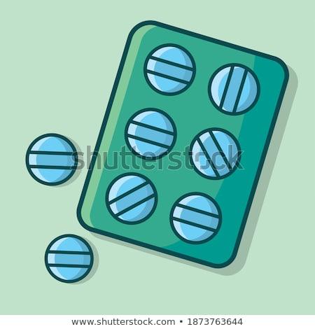 Tabletta konténer folyadék kenőcs bögre injekciós tű Stock fotó © robuart